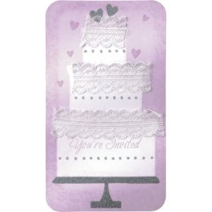 Cake Wedding Invitations 12ct