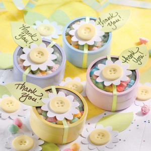 Multicolor Tin Baby Shower Favor Kit 24ct