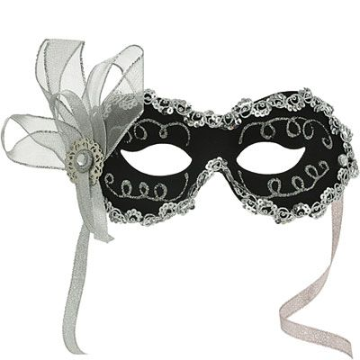 Black Angelina Masquerade Mask
