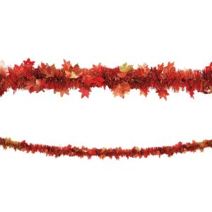 Fall Leaf Tinsel Garland