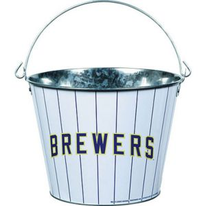 Milwaukee Brewers Galvanized Bucket