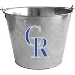 Colorado Rockies Galvanized Bucket