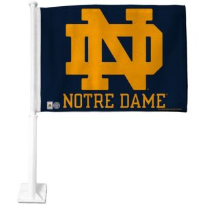 Notre Dame Fighting Irish Car Flag