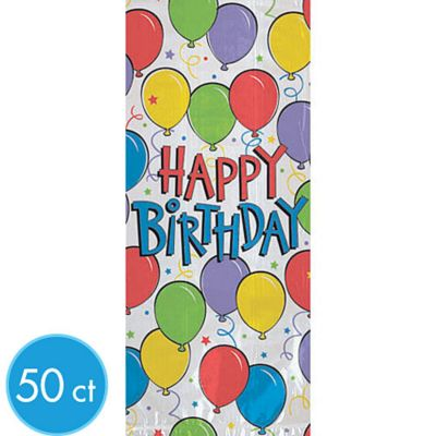 Balloon Fun Happy Birthday Treat Bags 50ct