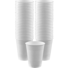 BOGO White Plastic Cups 16oz 50ct