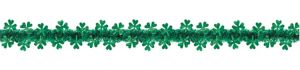 Prismatic Shamrock Tinsel Garland