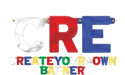 Create-Your-Own Metallic Banner Kit 84pc