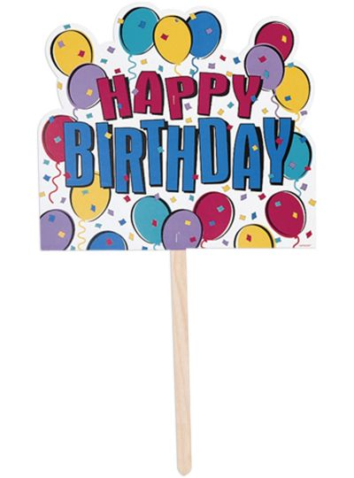 Balloon Party Happy Birthday Yard Sign