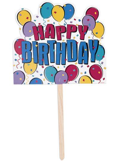 Balloon Party Happy Birthday Yard Sign