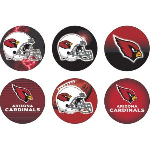 Arizona Cardinals Buttons 6ct