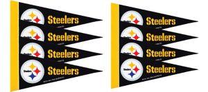 Pittsburgh Steelers Pennants 8ct