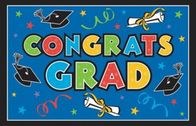 Multicolor Vinyl Graduation Party Sign