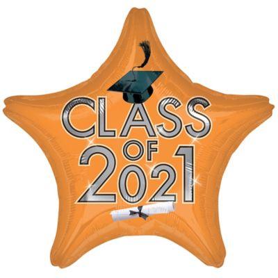 Star Class of 2015 Orange Graduation Balloon