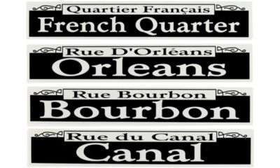 New Orleans Street Signs Cutouts 4ct