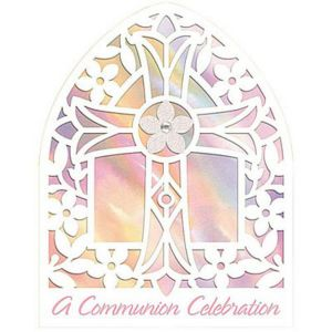 Novelty Pink Communion Invitations 8ct