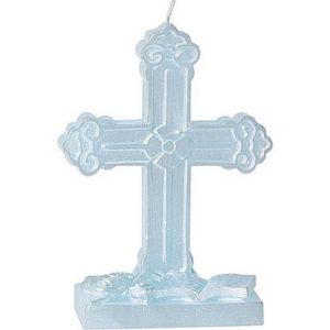 Blue Cross Mold Candle