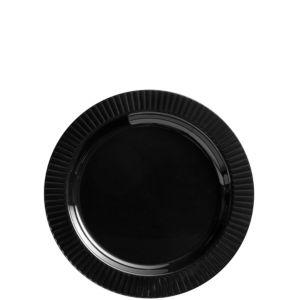 Black Premium Plastic Dessert Plates 32ct
