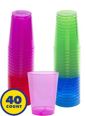 Big Party Pack Jewel Tone Plastic Cups 40ct