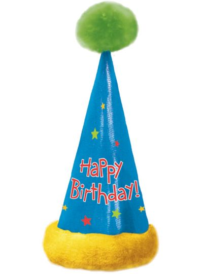 Happy Birthday Pom-Pom Party Hat