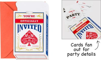 Deck of Cards Invitations 8ct
