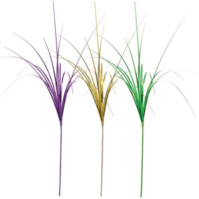 Foil Mardi Gras Onion Grass 3ct