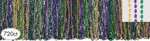Classic Mardi Gras Bead Necklaces 720ct