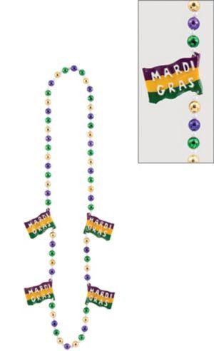 Flag Mardi Gras Bead Necklace