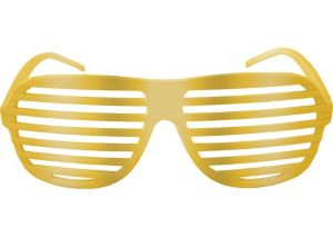 Gold Shutter Glasses