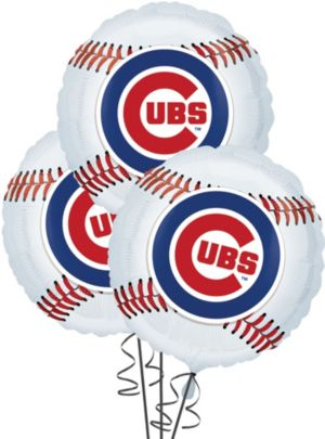 Chicago Cubs Balloons 18in 3ct