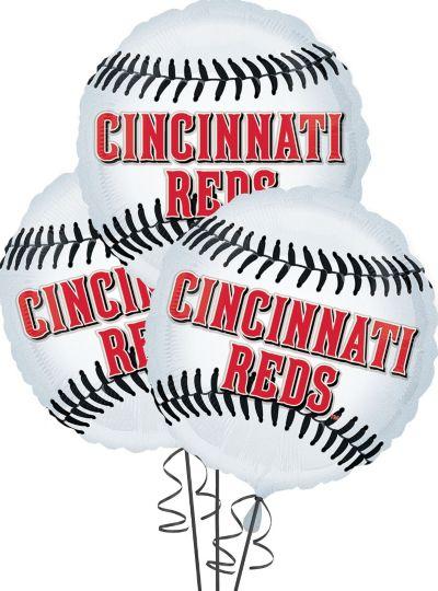 Cincinnati Reds Balloons 18in 3ct