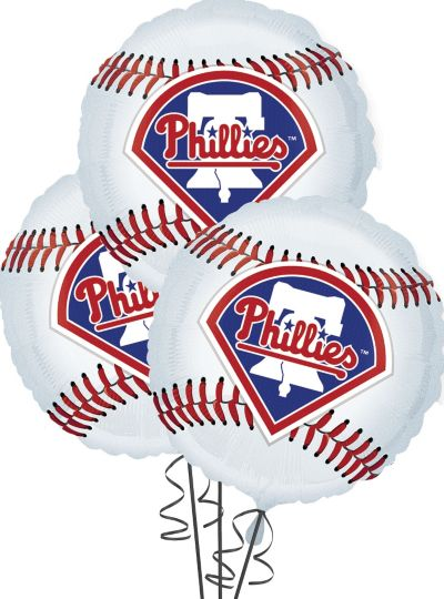 Philadelphia Phillies Balloons 18in 3ct