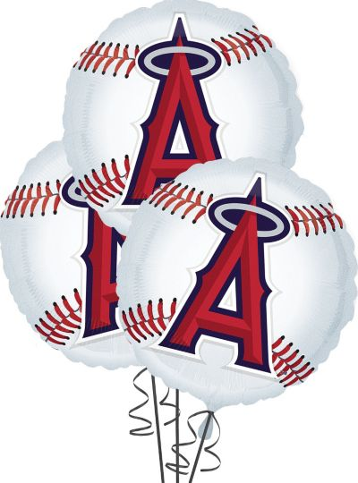 Los Angeles Angels Balloons 18in 3ct