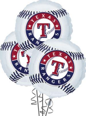 Texas Rangers Balloons 18in 3ct