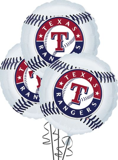 Texas Rangers Balloons 18in 3ct