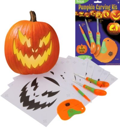 Deluxe Pumpkin Carving Kit 16pc