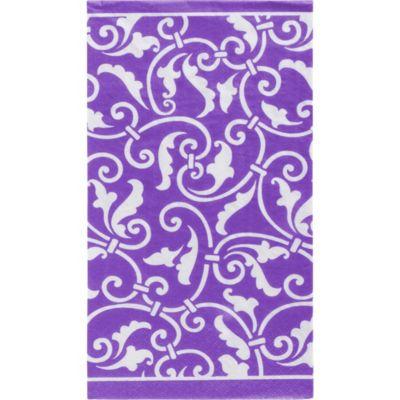 Purple Ornamental Scroll Guest Towels 16ct