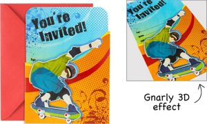 Premium Sliding Born to Skate Invitations 8ct