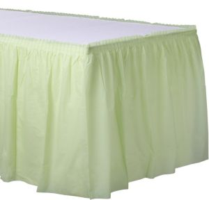 Leaf Green Plastic Table Skirt
