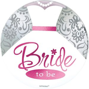 Bride Jumbo Fun Button