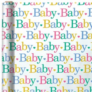 Jumbo Baby Colors Gift Wrap