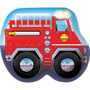 Firefighter Truck Plates 8ct