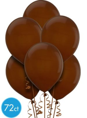 Chocolate Brown Balloons 72ct