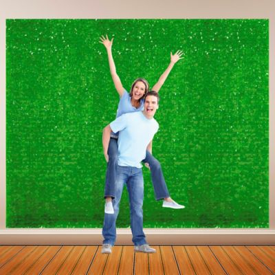 Green Vinyl Floral Sheeting