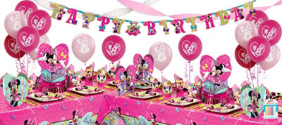 Minnie Mouse Party Supplies Deluxe Party Kit for 16 Guests