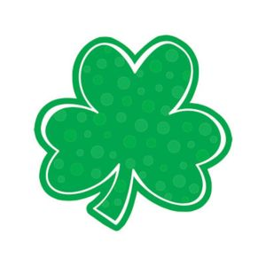 Polka Dot Shamrock Cutout