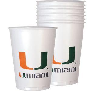 Miami Hurricanes Plastic Cups 8ct