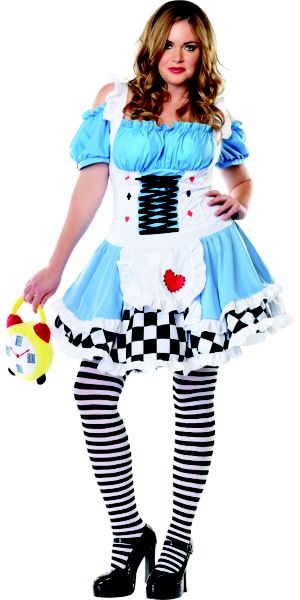 Adult Miss Wonderland Costume Plus Size