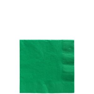 Festive Green Beverage Napkins 50ct