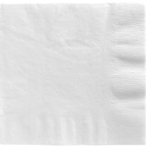 White Dinner Napkins 20ct