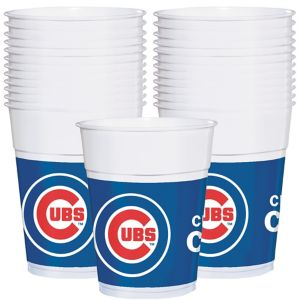 Chicago Cubs Plastic Cups 25ct